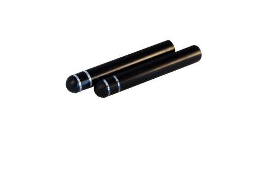 Billet Door Lock Knob, Black Anodized w/ Grooves (Pair) – DLK-BG (Billet Door Lock Knobs)