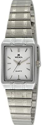 Mema Watch for Women, Analog, Metal Band, Silver, MM5707LC11B11D03