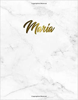 Maria: Marble and golden 2019 planner with inspirational ...