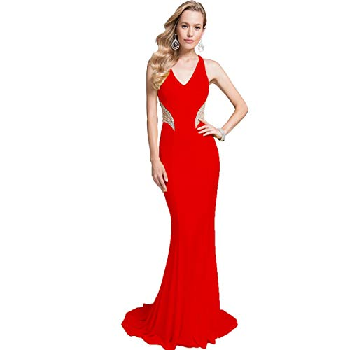 Terani Couture Prom Beaded Evening Dress Red 16