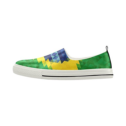 Sneaker Da Uomo In Microfibra Slip-on Con Bandiera D-story In Brazil