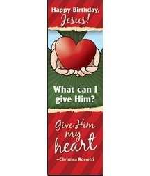 Bookmark-Happy Birthday Jesus (Mark 12:33 NIV) - Pa Outlet Mall