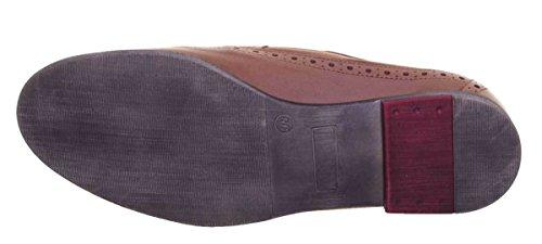 Femme Justin Reece 6800 Chaussures pour Lacets de Marron Ville à qv8TR48w