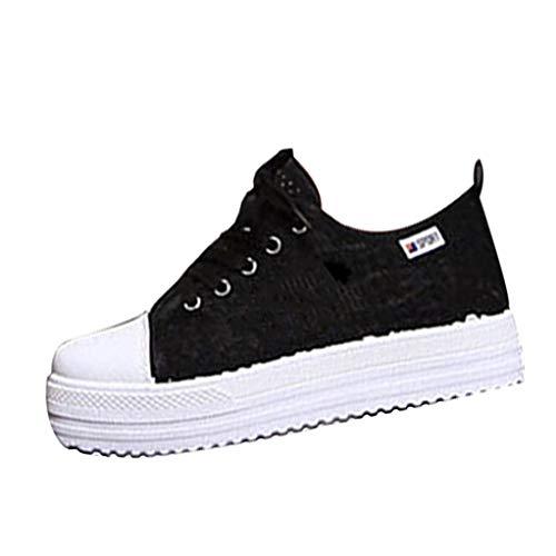GilesJones Loafers Women,Casual Cutouts Lace Canvas Sports Flats Platform Shoes