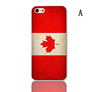 DUR FlagSeries Pattern Hard Case with 3-Pack Screen Protectors for iPhone 5/5S , A