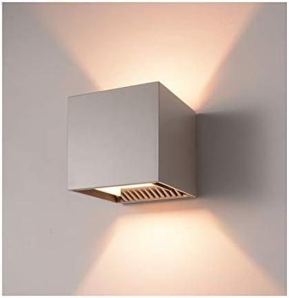 INHDBOX LED Exterior Wall Lamp,4.7 Adjustable Outdoor Porch Wall Mounted Lighting Fixtures,12W Warm Light 3000K Aluminum Waterproof IP65