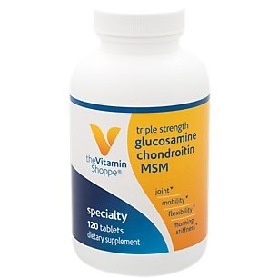(The Vitamin Shoppe Triple Strength Glucosamine Chondroitin MSM, High Potency Joint Structure and Mobility Supplement with MSM to Support Healthy Collagen for Joint Support (120)