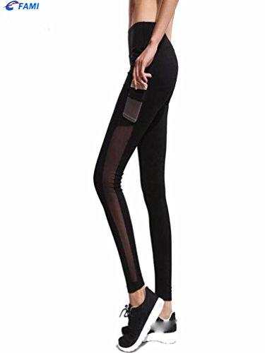 de Femmes Noir Pantalon de Pantalons Leggings Familizo Femmes Mode Sport de Sport Yoga wqdEZZ67