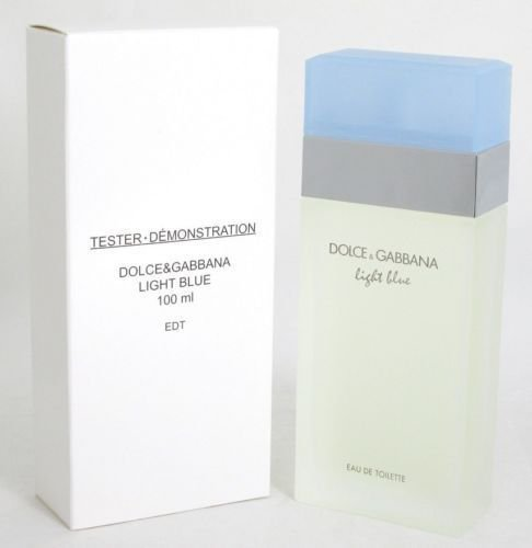 Dolce & Gabbana Light Blue Eau De Toilette Spray (LIGHT BLUE [TESTER] Eau de Toilette spray 3.4oz for Women White Box)