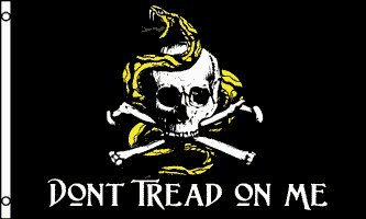 amazon com 3 x5 don t tread on me pirate flag jolly roger