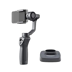 DJI Osmo Mobile 2 3-Axis Handheld Gimbal Stabilizer for iPhone & Android Smartphones with PGYTECH Action Camera Adapter 5