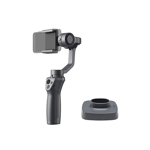 DJI Osmo Mobile 2 3-Axis Handheld Gimbal Stabilizer for iPhone & Android Smartphones with PGYTECH Action Camera Adapter 1