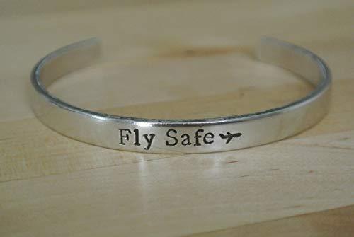 Fly Safe Bracelet, Airplane Jewelry, Flight Attendant Gift, Flight Attendant Jewelry, Stewardess Gift