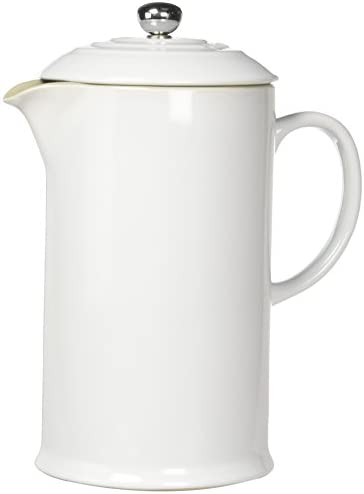 Le Creuset Stoneware 27-Ounce French Press, White