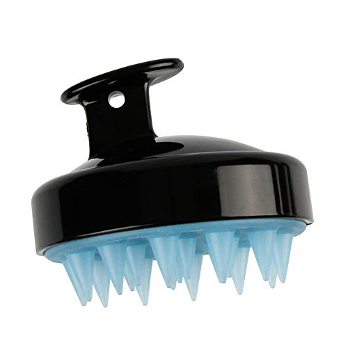 LiPing Head Anti-itch Silicone Shampoo Scalp Improve Hair Growth, Prevent Hair Loss Salon Straightening Brush Tools Hairdressing DIY Salon (Black)