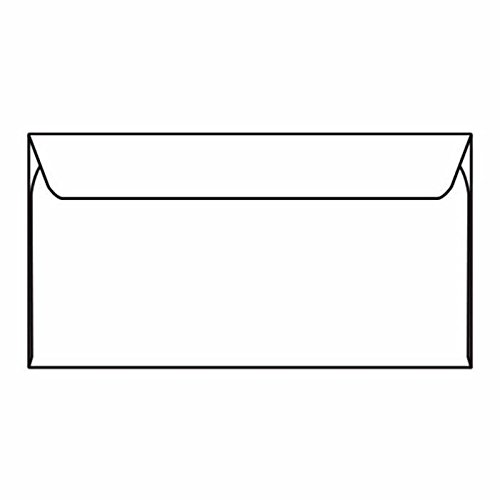 Slim-Jim Machine Insertable Open Side Booklet Envelopes, 6