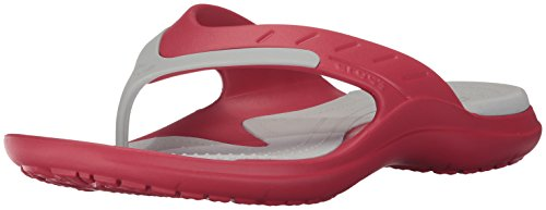 crocs Unisex-Adult Modi Sport Flip,Khaki/Espresso,15 US Men/17 US Women Pepper/Pearl White