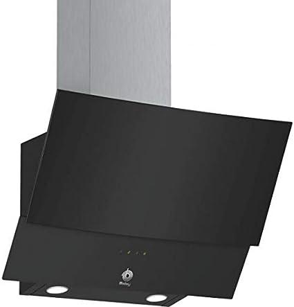 Balay 3BC565GN Serie Cristal - Campana extractora decorativa, ancho 60 cm, 3 niveles de extracción, 530 m3/h de potencia de extracción en nivel 3, color negro: 263.21: Amazon.es: Grandes electrodomésticos