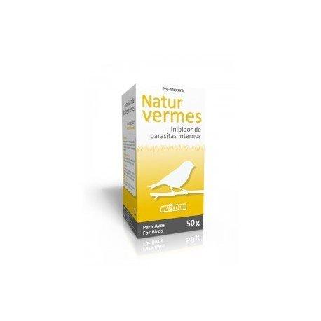 Avizoon Natur Vermes 50 gr, (producto 100% natural que elimina la mayoría de parásitos intestinales). Para pájaros