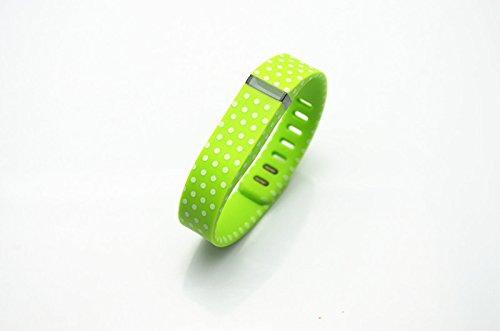 [해외]스마트 테크 스토어 그린 화이트 점이있는 폴카 점 교체 밴드 FitX 전용 잠금 장치 / 트래커 / 무선 작동 팔찌 스포츠 손목 보호대/Smart Tech Store Green with White Dots Polka Dots Replacement Band With Clasp for Fitbit FLEX Only /No track...