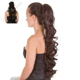 Prime Amazon Com Dark Brown Long Curly Pony Tail Hairpiece 23 Short Hairstyles For Black Women Fulllsitofus