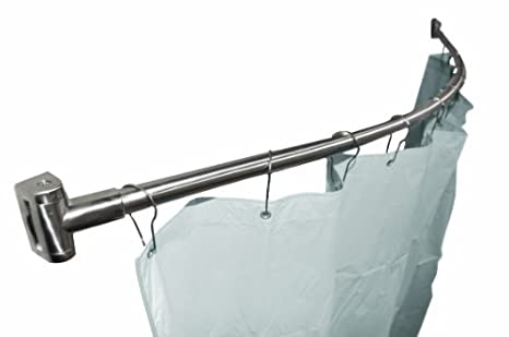 Bradley 9530 600000 Satin Finish Stainless Steel Curved Shower Curtain Rod,  1u0026quot; OD