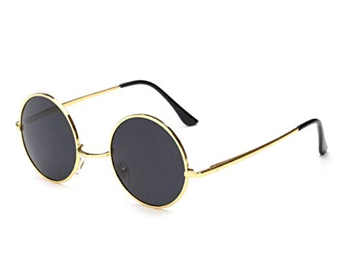 rondes Lunettes des UV400 de protection Golden conduisant FlowerKui des de soleil des pour de style hommes femmes cadre de rond lunettes w1CnqFtB