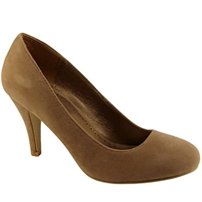 58f48a6e63032 Womens Light Brown Mid Heel Court Shoes: Amazon.co.uk: Shoes & Bags