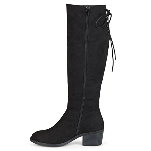 Brinley Toe Brinley Boots Womens Co Black Faux Suede Co Round T1X5xSqX