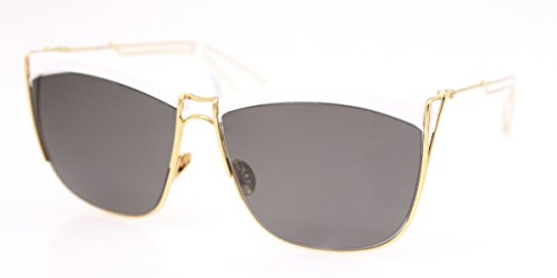 Dior 266 White and Yellow Gold So Electric 1 Cats Eyes Sunglasses Lens - White And Gold Dior Sunglasses