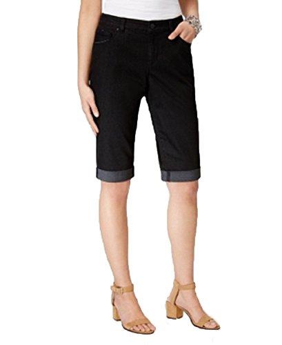 Style & Co. Cuffed Bermuda Shorts (Black Rinse, 18)