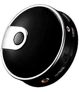 Transmisor de Audio Fibra Portátil Adaptador de Audio Inalámbrico Bluetooth Transmisión de Audio Estéreo con Entrada