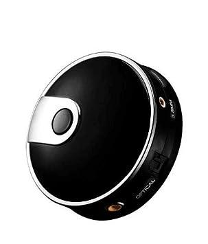 Transmisor de Audio Fibra Portátil Adaptador de Audio Inalámbrico Bluetooth Transmisión de Audio Estéreo con Entrada de Vídeo Óptica Toslink, 3.5mm Aux, ...
