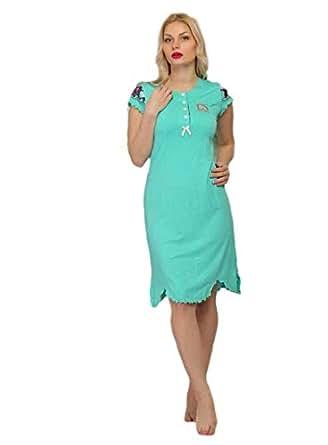 Cotton Candies Blue Nightshirt For Women