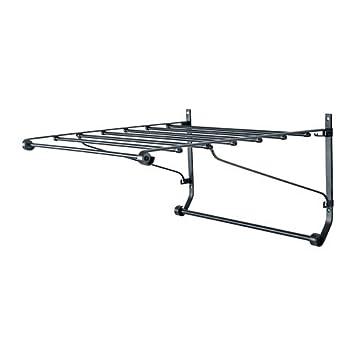Ikea Wäscheständer ikea portis wäscheständer wand dunkelgrau 63x55 cm amazon de