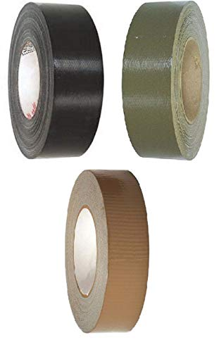 hersrfv clothing 1pc Black Olive Drab Coyote Brown Army Military 100 Mph Roll Self-Clinging Duct Tape