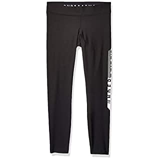 Under Armour Women's HeatGear Armour Graphic Leggings, Black (001)/Metallic Silver, X-Small Short