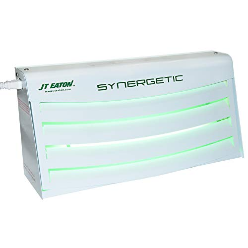 JT Eaton 1500LV Synergetic Metal Horizontal Hygiene Free-Standing Fly Light Trap with Large Glue Board and Shatterproof Bulbs