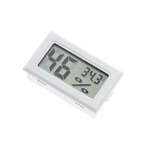 Price comparison product image TYewa98556 2019 Newest Teconology Thermometer,  Mini LCD Digital Wireless Thermometer Hygrometer Temperature Humidity Meter - White