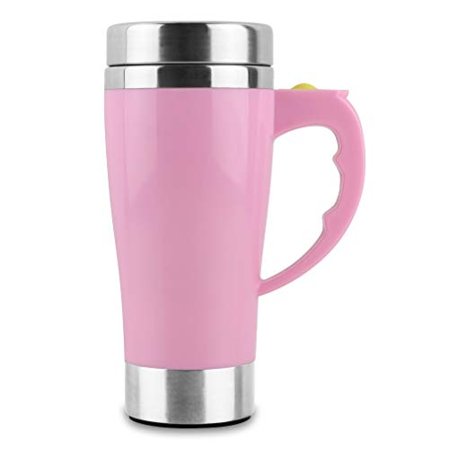 Self Stirring Travel Coffee Mug Stainless Steel Automatic Mixing Cup ()