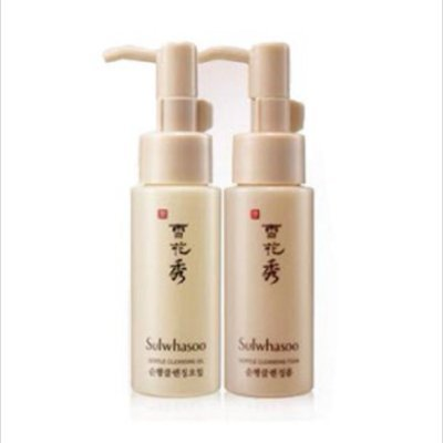 Sulwhasoo Gentle Cleansing Oil 50ml + Cleansing foam 50ml Set, Mild deep cleanser Authentic products, Korean skincare beauty cosmetics from Sulwhasoo