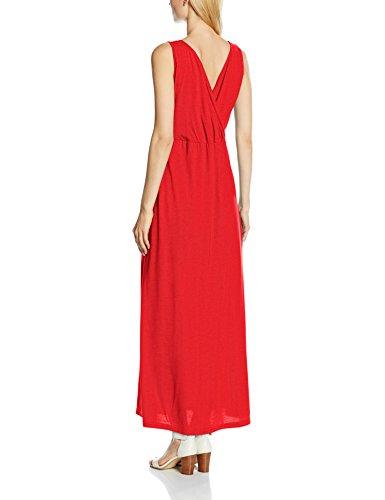 Para Over Vestido red Hotsquash V Cross Rojo Mujer Maxi xHXqS1q