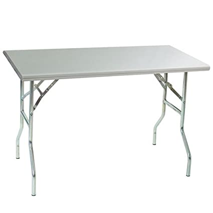 Amazoncom Eagle Group TF Folding Work Table Gauge Stainless - 18 wide stainless steel work table