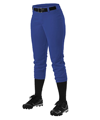 Alleson Ahtletic Women's Fast Pitch Softball Belt Loop Pants, Royal, Medium ()