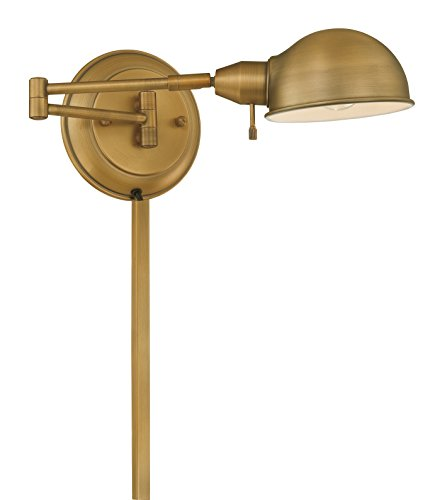 (Lite Source Wall Sconce Decor Lamp, Antique Brass)