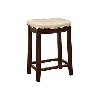 Incredible Amazon Com Linon Allure Counter Stool Kitchen Dining Andrewgaddart Wooden Chair Designs For Living Room Andrewgaddartcom