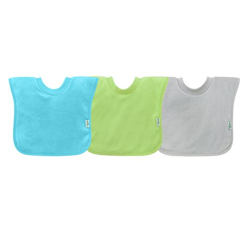 green sprouts Stay-Dry Toddler Bib (3pk) | Convenient Stay-Put Protection | Wide Coverage & Waterproof, Pull-Over Design