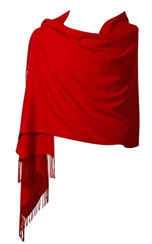 - Womens Pashmina Shawl Wrap Scarf - Ohayomi Solid Color Cashmere Stole Extra Large 78
