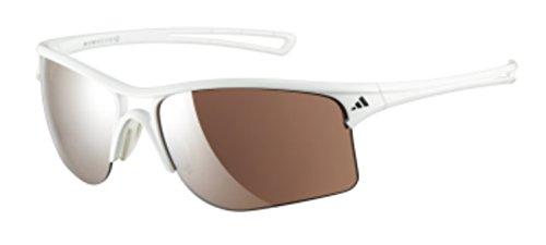 adidas raylor S Rectangular Sunglasses, Shiny White, 60 ()