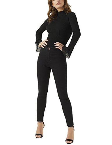 Womens Stretch Carpenter Jean (LIPSY Womens Super Stretch High Rise Skinny Jean Black US 0 R (UK 4))